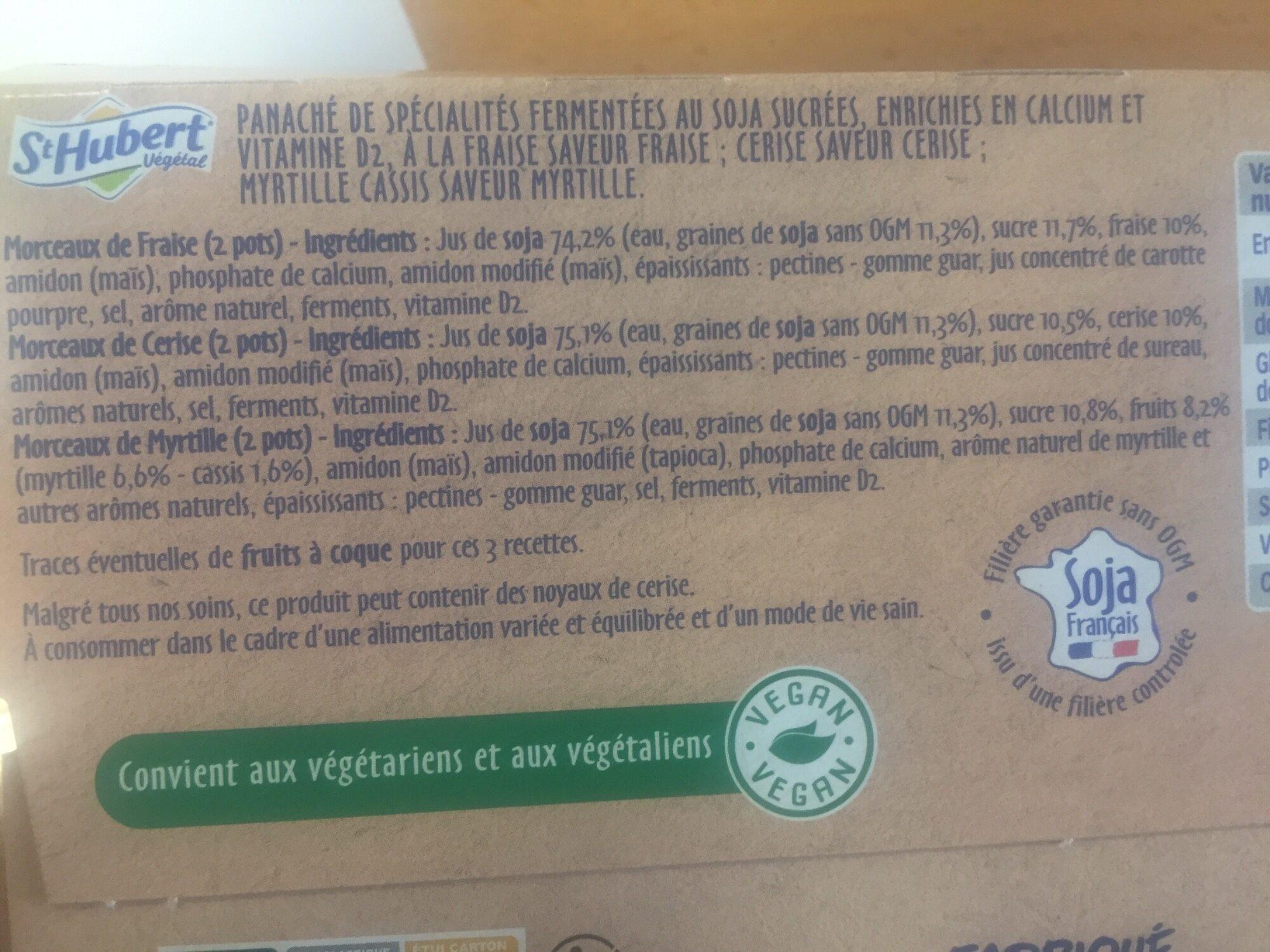 Les petits plaisirs soja aux fruits rouges - Ingrédients - fr