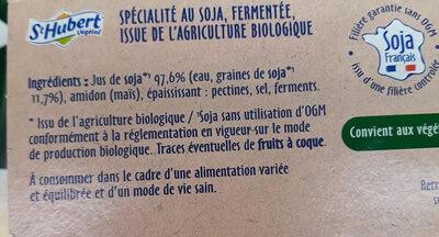 Nature bio - Ingredients