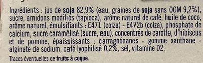 Liégeois soja café - Ingredients - fr