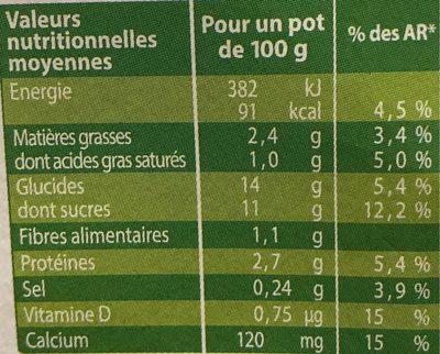 Liégeois soja café - Nutrition facts - fr