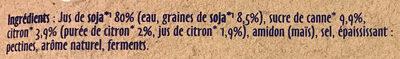 St Hubert Végétal Citron Bio - Ingrediënten - fr