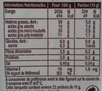 St Hubert 5 Céréales (Doux, Tartine & Cuisine), (50 % MG) - Voedingswaarden - fr