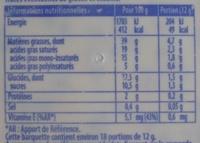 Pâte à tartiner à base de matières grasses allégées et de chocolat - Nutrition facts - fr