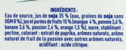 Les Petits Plaisirs Soja Multifruit - Inhaltsstoffe - fr