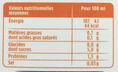 Les Petits Plaisirs Soja Multifruit - Nährwertangaben - fr
