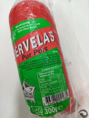 CERVELAS - Pur Porc - Produit - fr