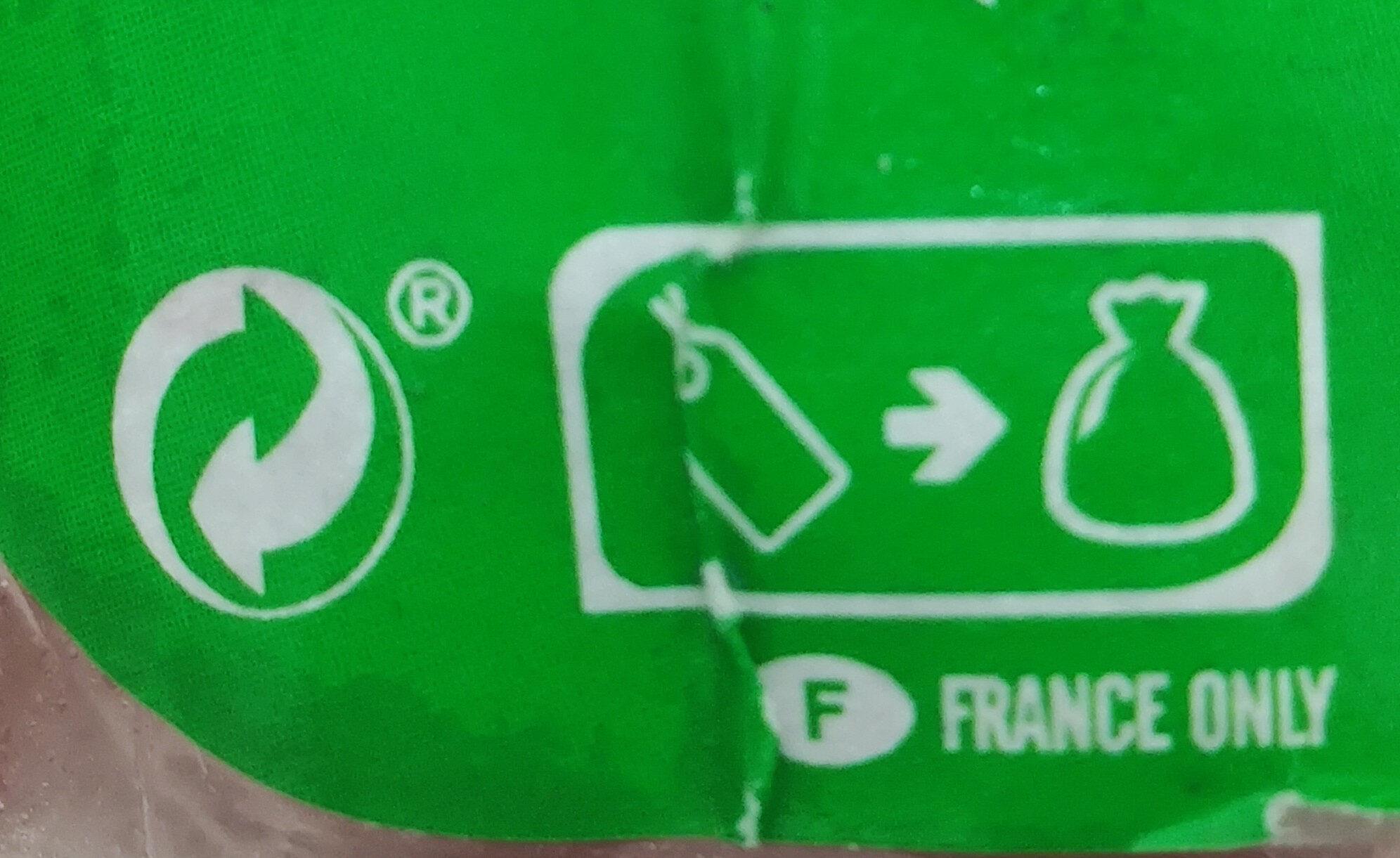 CERVELAS - Pur Porc - Instruction de recyclage et/ou informations d'emballage - fr