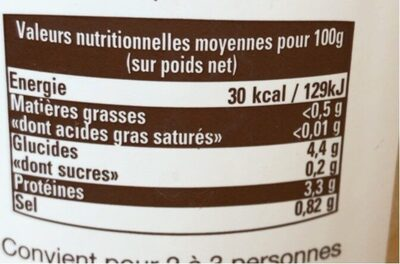 Soupe De Poissons Du Cap Ferret - Informations nutritionnelles - fr