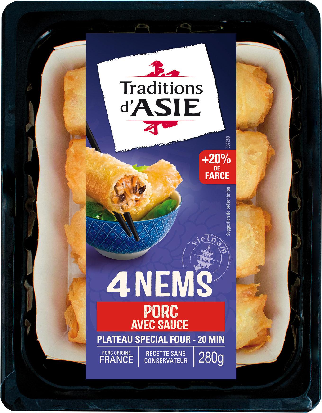 4 Nems au porc avec sauce nuoc-mâm - Product - fr