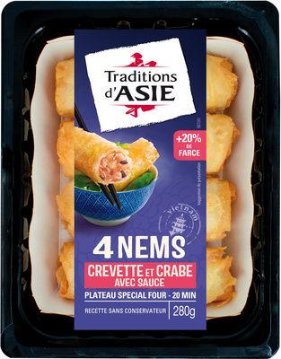 4 Nems à la crevette et au crabe avec sauce nuoc-mâm - Product
