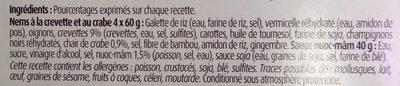 4 Nems à la crevette et au crabe avec sauce nuoc-mâm - Ingrediënten