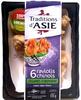 6 raviolis chinois Légumes Coriandre sauce aigre-douce - Produkt
