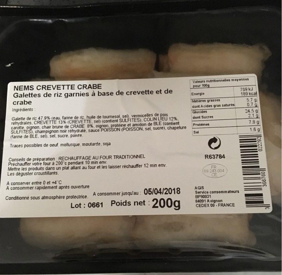 Nems Crevette Crabe - Product - fr