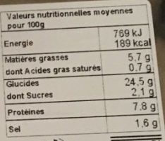 Nems Crevette Crabe - Nutrition facts - fr