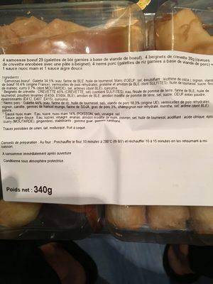 Assortiment asiatique, la barquette de - Ingredients - fr