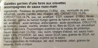 Rouleau de printemps - Ingrédients - fr