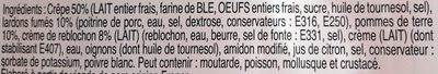 Crêpes savoyardes TOP AFFAIRE - Ingredients