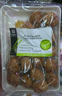 Acras à la morue + Sauce aigre douce - Produit