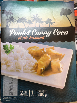 Poulet Curry Coco et riz basmati - Product