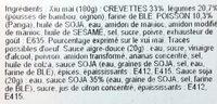 Xiu Mai aux Crevettes + Sauces Aigre Douce et Soja - Ingredients