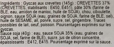 Gyozas aux crevettes + sauce soja - Ingredients - fr