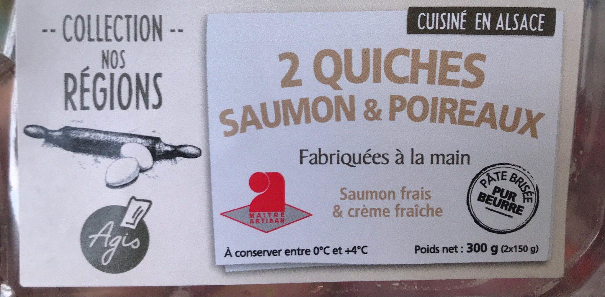 Quiches saumon & poireaux - Product - fr