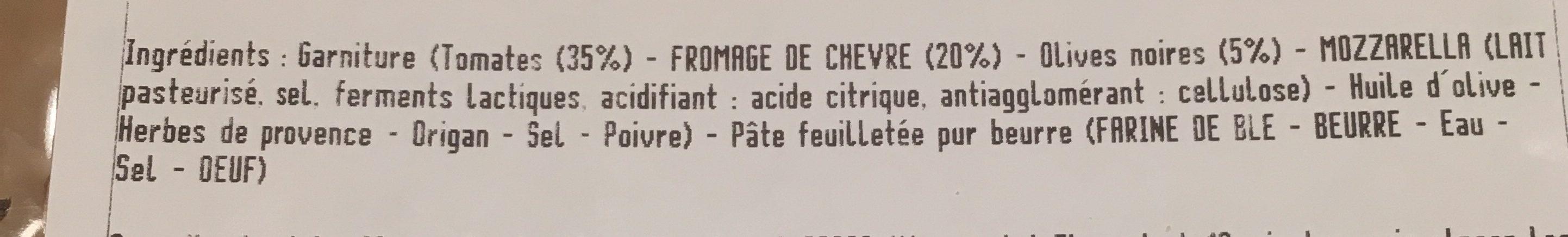 Tartes fines tomates chevre - Ingredients