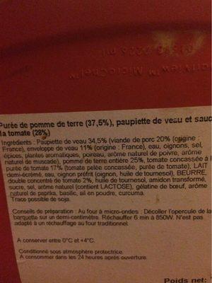Paupiettes de veau - Ingrédients - fr