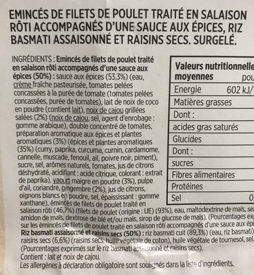 Poulet tikka masala et riz basmati - Ingredients