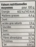 Poulet tikka masala et riz basmati - Nutrition facts