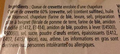 Tempuras de gambzd - Ingrediënten - fr