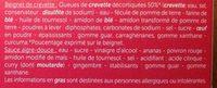 6 Beignets de Crevette - Ingrédients