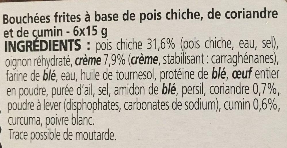 Falafels pois chiches et coriandre - Ingrédients