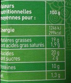 Chimichangas - Informations nutritionnelles - fr