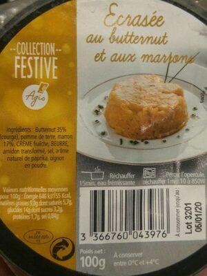Écrasée au butternut et aux marrons - Produit