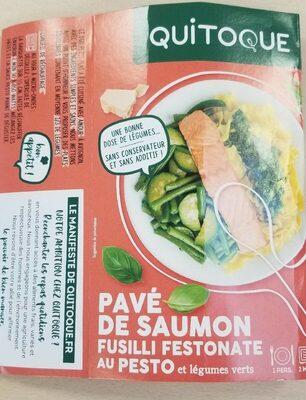 Pavé de Saumon et pâtes aux légumes verts - Produit - fr