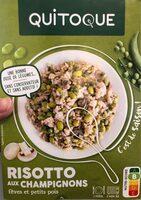 Risotto aux champignons, fèves et petits pois - Produit - fr
