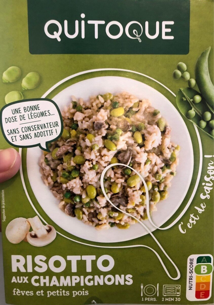 Risotto aux champignons, fèves et petits pois - Product