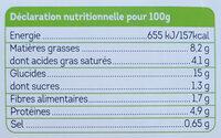 Risotto aux champignons, fèves et petits pois - Informations nutritionnelles - fr