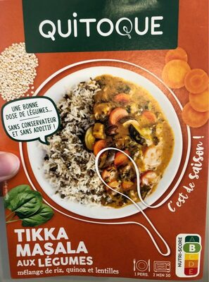 Tikka masala aux légumes, mélange de riz, quinoa et lentilles - Produit