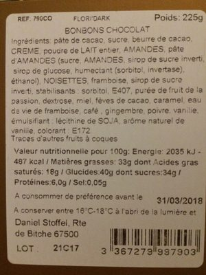 Daniel stoffel - Ingredients