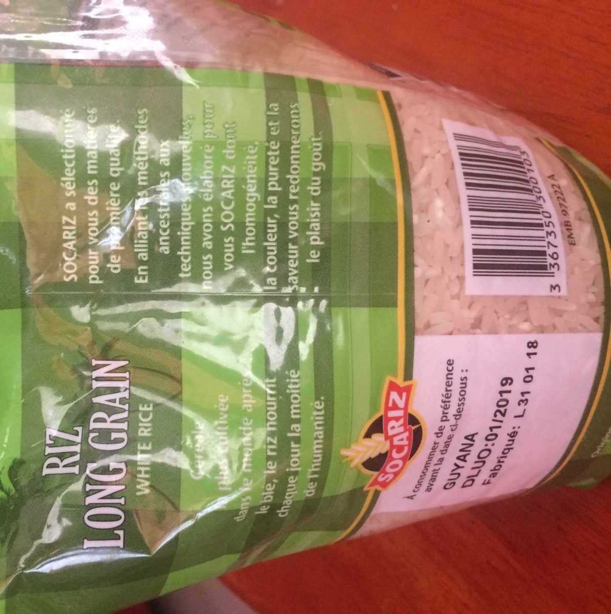 Riz Long Grain - Ingredienti - fr