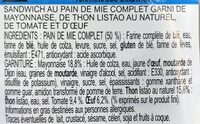 Le club classique Thon oeuf - Ingrediënten - fr