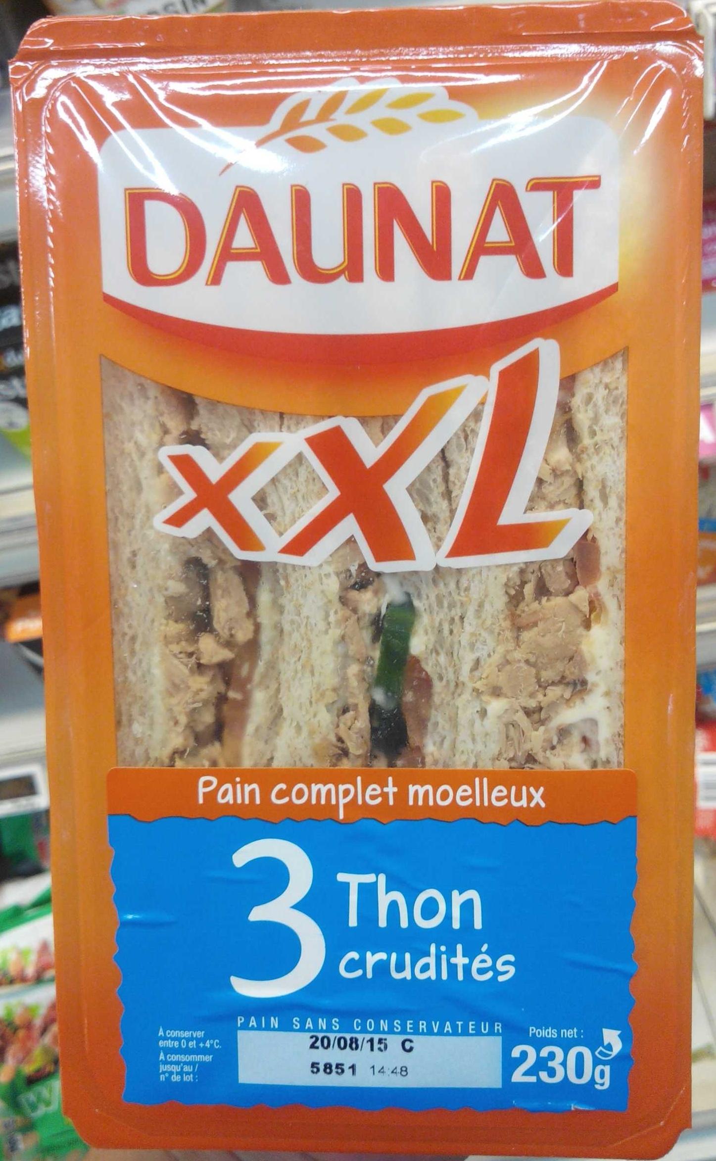 XXL Thon Oeuf crudites - Produit - fr