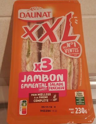 XXL Pain complet Jambon Emmental Salade - Product - fr