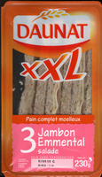XXL Pain complet Jambon Emmental Salade - Product
