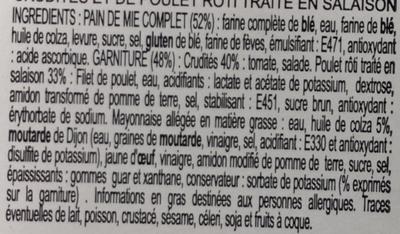 Poulet roti - Ingredients