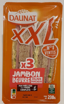 Jambon beurre salade fraîcheur XXL - Produit - fr