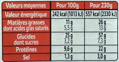 Jambon beurre salade fraîcheur XXL - Informations nutritionnelles - fr
