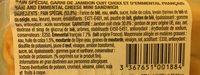 Les Minis Maxi Moelleux Jambon Emmental - Ingrédients - fr
